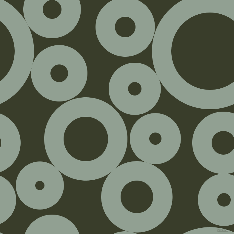 bubbles, circles, sponge, big, medium, small, 65 pixel line width, Pewter and Green Kelp circles bubbles sponge soap seamless tileable
