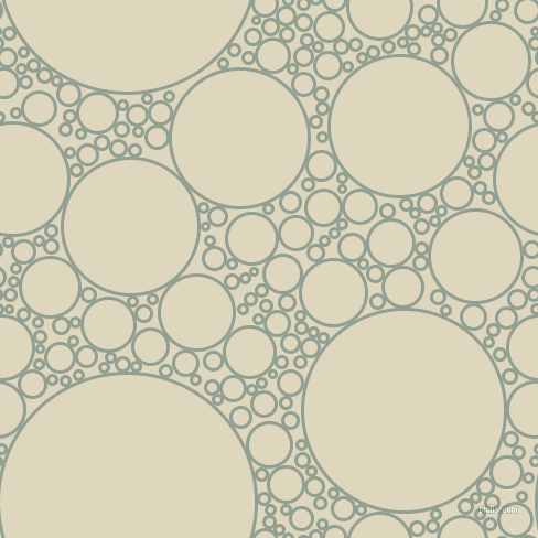 bubbles, circles, sponge, big, medium, small, 3 pixel line width, Pewter and Wheatfield circles bubbles sponge soap seamless tileable