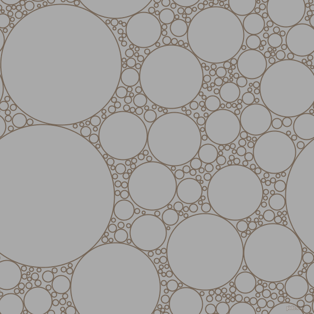 bubbles, circles, sponge, big, medium, small, 2 pixel line width, Pine Cone and Dark Gray circles bubbles sponge soap seamless tileable