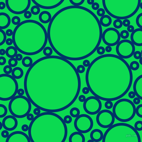 bubbles, circles, sponge, big, medium, small, 9 pixel line width, Prussian Blue and Malachite circles bubbles sponge soap seamless tileable