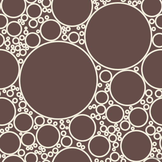 bubbles, circles, sponge, big, medium, small, 5 pixel line width, Quarter Pearl Lusta and Congo Brown circles bubbles sponge soap seamless tileable
