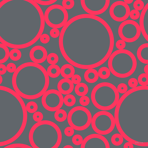 bubbles, circles, sponge, big, medium, small, 17 pixel line width, Radical Red and Shuttle Grey circles bubbles sponge soap seamless tileable