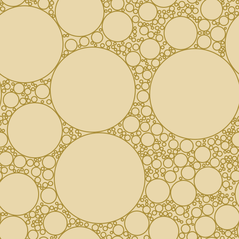 bubbles, circles, sponge, big, medium, small, 3 pixel line width, Reef Gold and Beeswax circles bubbles sponge soap seamless tileable