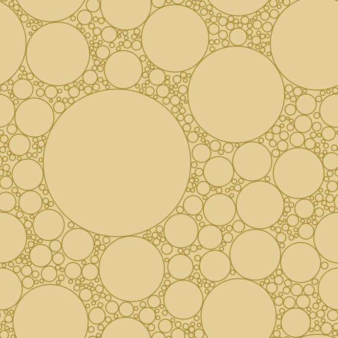 bubbles, circles, sponge, big, medium, small, 2 pixel line width, Reef Gold and Double Colonial White circles bubbles sponge soap seamless tileable