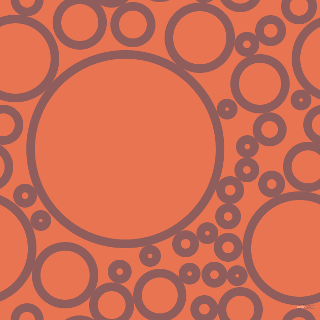 bubbles, circles, sponge, big, medium, small, 17 pixel line width, Rose Taupe and Burnt Sienna circles bubbles sponge soap seamless tileable