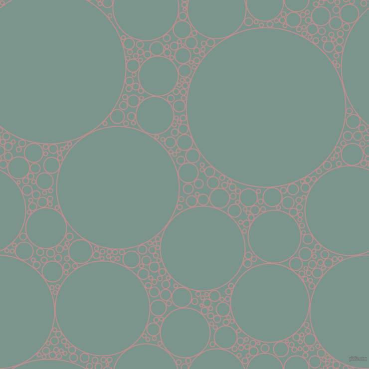 bubbles, circles, sponge, big, medium, small, 2 pixel line width, Rosy Brown and Granny Smith circles bubbles sponge soap seamless tileable