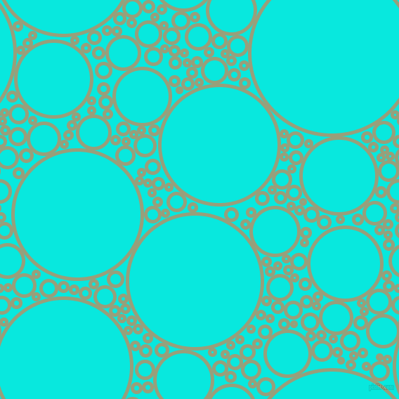 bubbles, circles, sponge, big, medium, small, 5 pixel line width, Sage and Bright Turquoise circles bubbles sponge soap seamless tileable