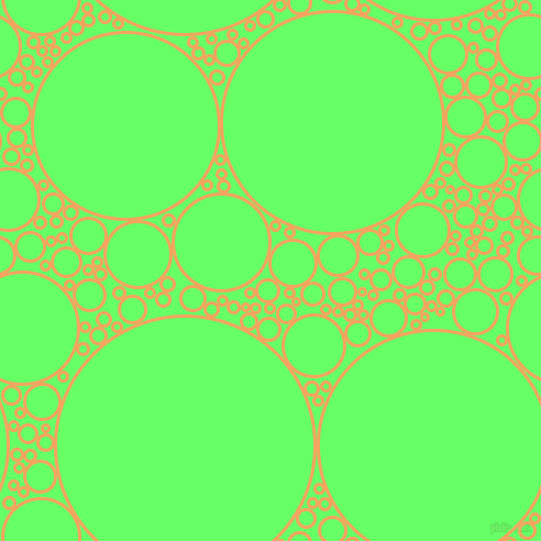bubbles, circles, sponge, big, medium, small, 3 pixel line width, Sandy Brown and Screamin