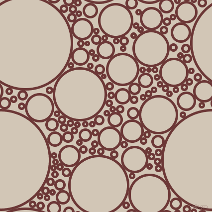 bubbles, circles, sponge, big, medium, small, 5 pixel line width, Sanguine Brown and Stark White circles bubbles sponge soap seamless tileable