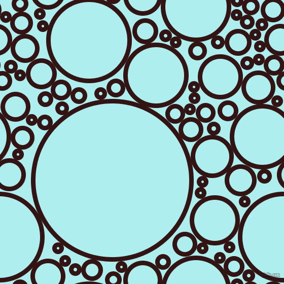 bubbles, circles, sponge, big, medium, small, 9 pixel line widthSeal Brown and Pale Turquoise circles bubbles sponge soap seamless tileable