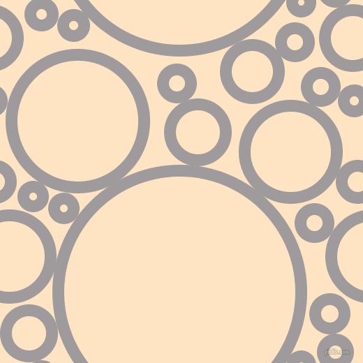 bubbles, circles, sponge, big, medium, small, 17 pixel line width, Shady Lady and Bisque circles bubbles sponge soap seamless tileable
