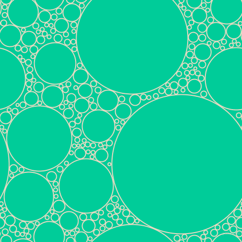 bubbles, circles, sponge, big, medium, small, 2 pixel line width, Solitaire and Caribbean Green circles bubbles sponge soap seamless tileable