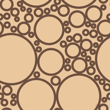 bubbles, circles, sponge, big, medium, small, 9 pixel line width, Spice and New Tan circles bubbles sponge soap seamless tileable