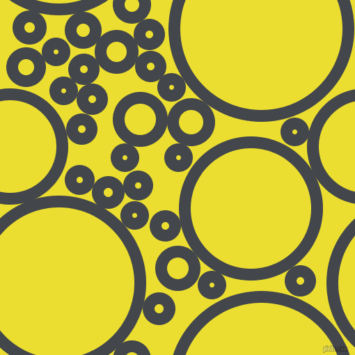 bubbles, circles, sponge, big, medium, small, 17 pixel line width, Steel Grey and Golden Fizz circles bubbles sponge soap seamless tileable