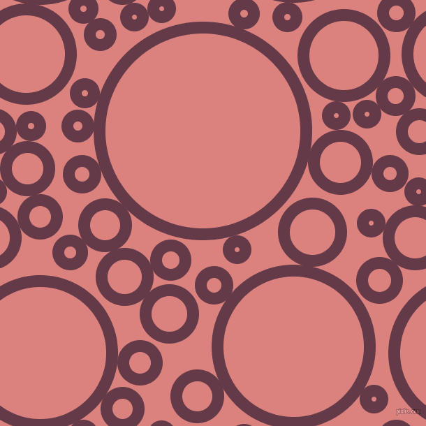 bubbles, circles, sponge, big, medium, small, 17 pixel line width, Tawny Port and Sea Pink circles bubbles sponge soap seamless tileable