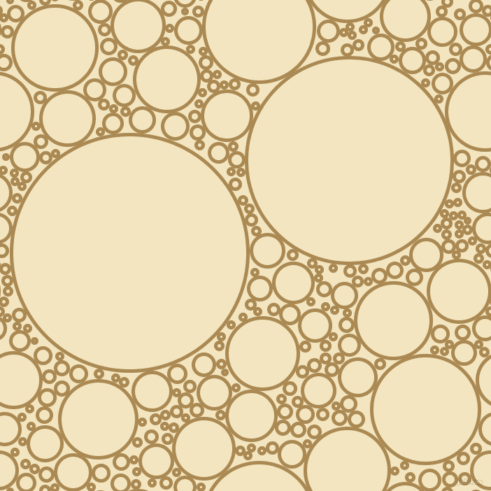 bubbles, circles, sponge, big, medium, small, 5 pixel line width, Teak and Half Colonial White circles bubbles sponge soap seamless tileable
