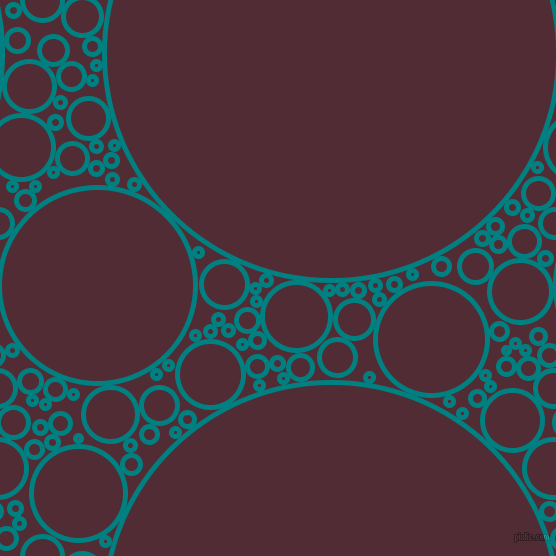 bubbles, circles, sponge, big, medium, small, 5 pixel line width, Teal and Wine Berry circles bubbles sponge soap seamless tileable