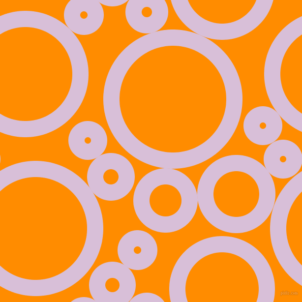 bubbles, circles, sponge, big, medium, small, 33 pixel line width, Thistle and Dark Orange circles bubbles sponge soap seamless tileable