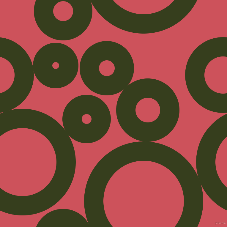 bubbles, circles, sponge, big, medium, small, 65 pixel line width, Turtle Green and Mandy circles bubbles sponge soap seamless tileable
