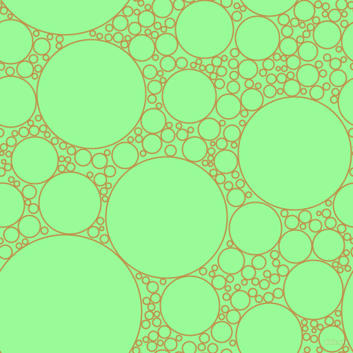 bubbles, circles, sponge, big, medium, small, 2 pixel line width, Tussock and Pale Green circles bubbles sponge soap seamless tileable