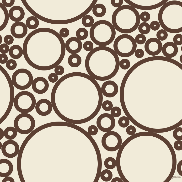 bubbles, circles, sponge, big, medium, small, 17 pixel line width, Very Dark Brown and Orchid White circles bubbles sponge soap seamless tileable