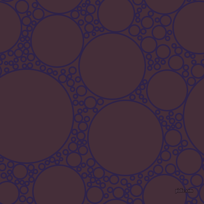 bubbles, circles, sponge, big, medium, small, 3 pixel line width, Violent Violet and Barossa circles bubbles sponge soap seamless tileable
