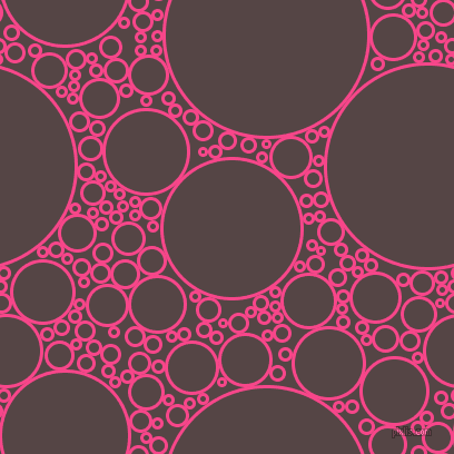 bubbles, circles, sponge, big, medium, small, 3 pixel line width, Violet Red and Woody Brown circles bubbles sponge soap seamless tileable