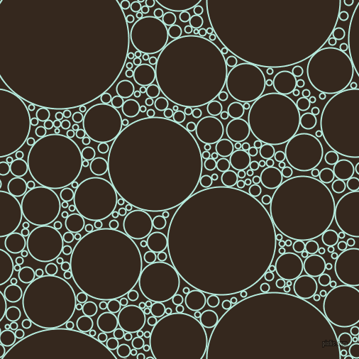 bubbles, circles, sponge, big, medium, small, 2 pixel line width, Water Leaf and Cocoa Brown circles bubbles sponge soap seamless tileable
