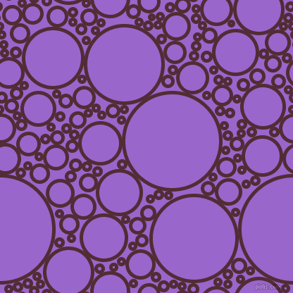bubbles, circles, sponge, big, medium, small, 5 pixel line width, Wine Berry and Amethyst circles bubbles sponge soap seamless tileable
