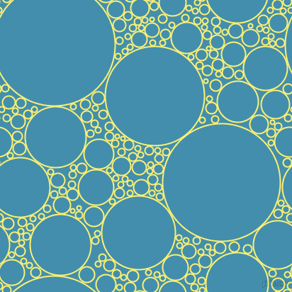 bubbles, circles, sponge, big, medium, small, 2 pixel line width, Witch Haze and Boston Blue circles bubbles sponge soap seamless tileable