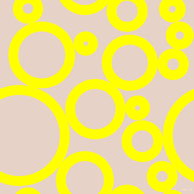 bubbles, circles, sponge, big, medium, small, 33 pixel line width, Yellow and Bizarre circles bubbles sponge soap seamless tileable