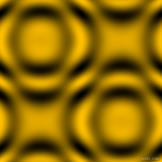 , Amber and Black and White circular plasma waves seamless tileable