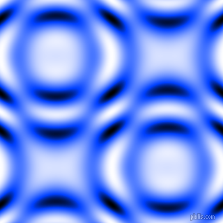 , Blue and Black and White circular plasma waves seamless tileable