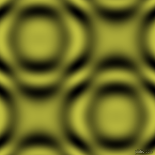 Celery and Black and White circular plasma waves seamless tileable
