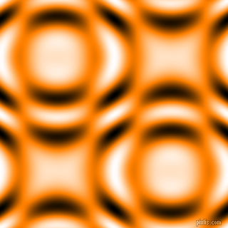 , Dark Orange and Black and White circular plasma waves seamless tileable