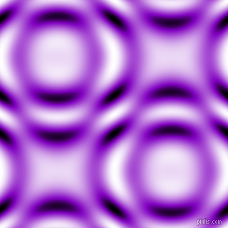 , Dark Violet and Black and White circular plasma waves seamless tileable