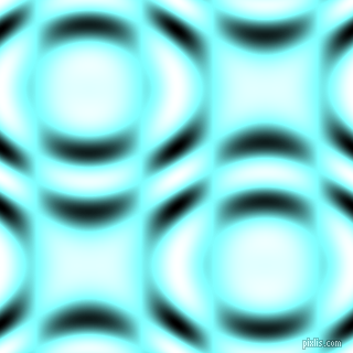 , Electric Blue and Black and White circular plasma waves seamless tileable