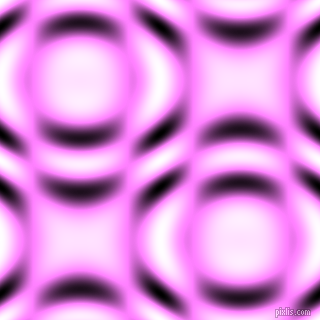, Fuchsia Pink and Black and White circular plasma waves seamless tileable