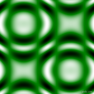 , Green and Black and White circular plasma waves seamless tileable