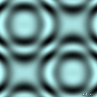 , Light Cyan and Black and White circular plasma waves seamless tileable