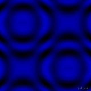 , Medium Blue and Black and White circular plasma waves seamless tileable