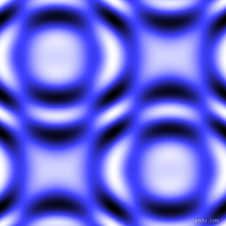 , Neon Blue and Black and White circular plasma waves seamless tileable