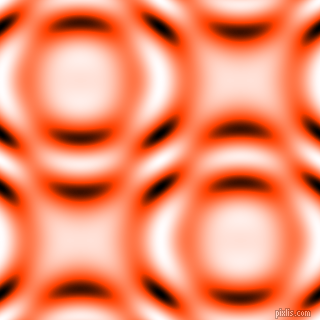 , Orange Red and Black and White circular plasma waves seamless tileable