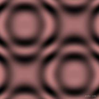 , Oriental Pink and Black and White circular plasma waves seamless tileable