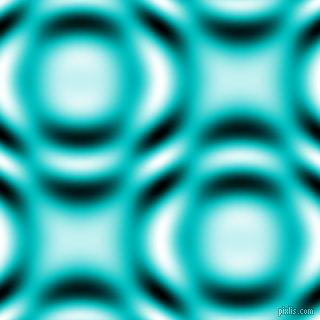 Robin's Egg Blue and Black and White circular plasma waves seamless tileable