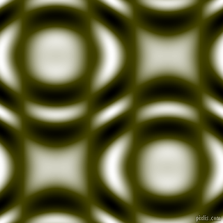 , Verdun Green and Black and White circular plasma waves seamless tileable