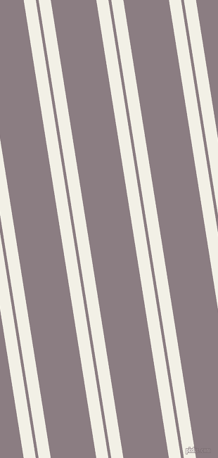 99 degree angles dual stripe line, 17 pixel line width, 4 and 64 pixels line spacing, Alabaster and Venus dual two line striped seamless tileable