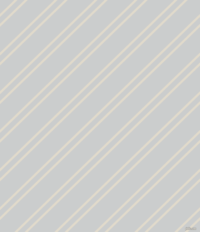 44 degree angle dual striped lines, 7 pixel lines width, 16 and 60 pixel line spacing, Albescent White and Iron dual two line striped seamless tileable
