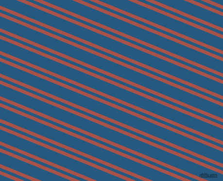 158 degree angle dual stripes lines, 7 pixel lines width, 6 and 23 pixel line spacing, Apple Blossom and Bahama Blue dual two line striped seamless tileable