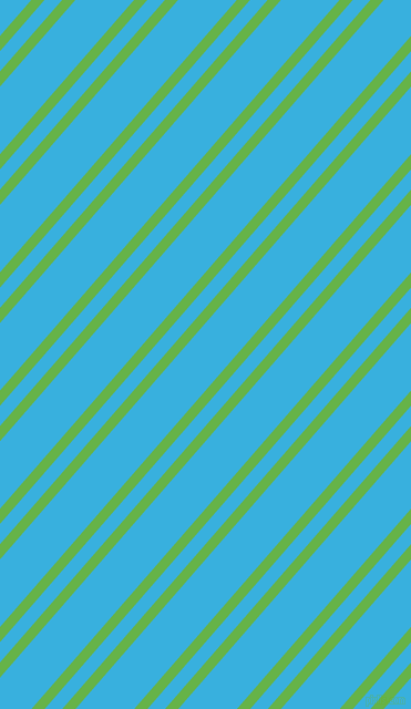 49 degree angles dual stripe lines, 9 pixel lines width, 12 and 40 pixels line spacing, Apple and Summer Sky dual two line striped seamless tileable